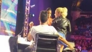 DEMI LOVATO TWERKS ON SIMON COWELL AT 'X FACTOR' AUDITIONS?