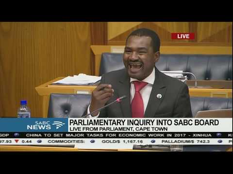 Parliamentary inquiry into the SABC board (Itani Tseisi), 9 December 2016