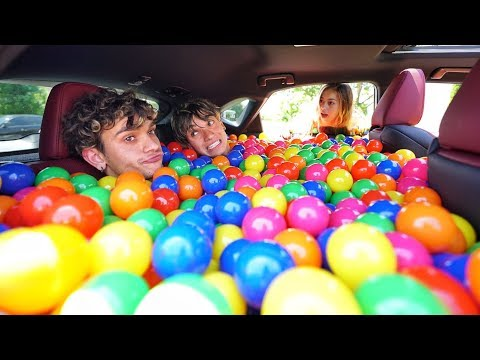 BALL PIT PRANK IN MY GIRLFRIEND S CAR