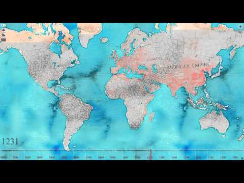 World Population Timelaps: 2000 years in 2 min
