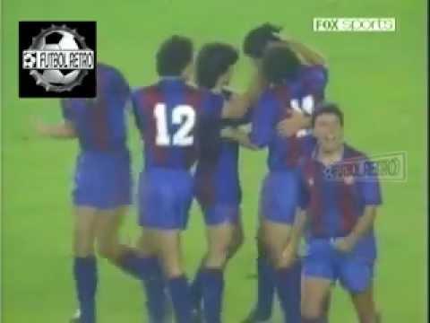 Real Madrid 3 vs Barcelona 2 Liga España 1988 89 Bakero Hugo Sanchez FUTBOL RETRO TV
