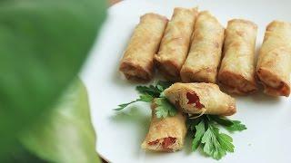 سبرنج رول الدجاج - SpringRoll chicken \ سهل و سريع - Easy and fast