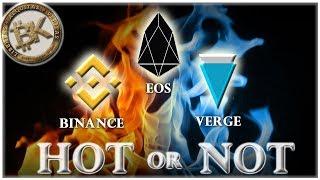 EOS - Binance - Verge XVG 🔥🌧 Best Crypto to Invest 2018 | Cryptocurrency Market News Headlines