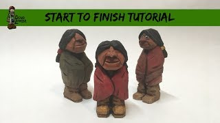 Carve The Native With a Blanket  - Start To Finish,  Full Tutorial
