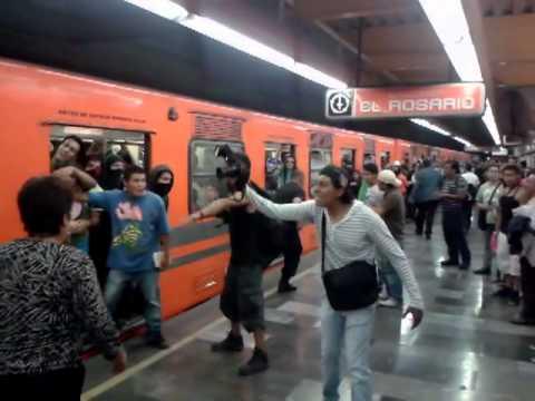 en el metro tacubaya