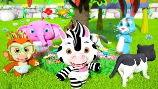 Here We Go Round The Mulberry Bush | Kindergarten Nursery Rhymes
