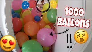 ICH fülle unser ZIMMER mit 1000 XXL BALLONS  😱 🎈 | Julienco
