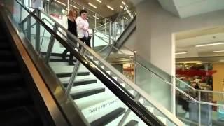 فكره رائعه تجعل الناس يستغنون عن الدرج الكهربائي