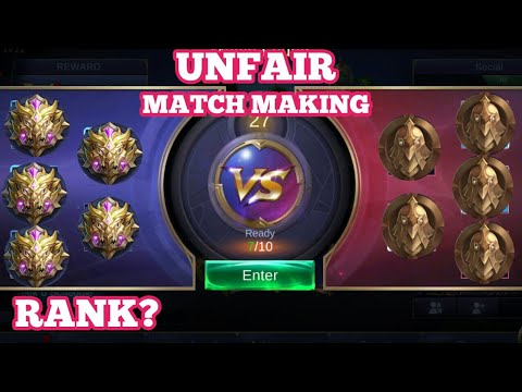 UNFAIR MATCH MAKING| IDEAS FOR IMPROVEMENT | MOBILE LEGENDS |