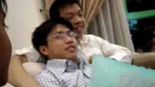 Don't disturb lah! We're gaying!