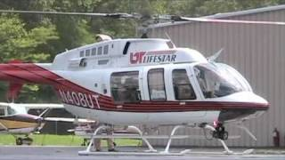 LifeStar 3 - Bell 407 startup and takeoff