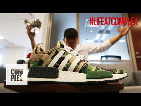 WEARING FAKE BAPE x NMD's IN THE OFFICE | #LIFEATCOMPLEX
