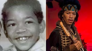 Jimi Hendrix - Transformation From 2 To 27 Years Old