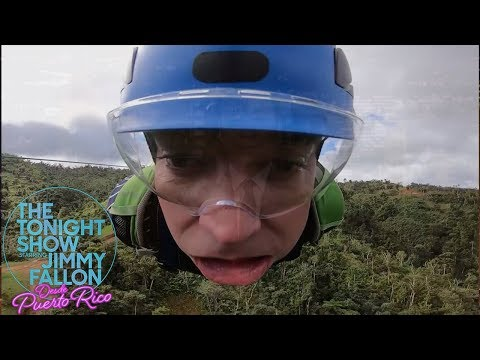 Jimmy Freaks Out Riding Puerto Rico s Monster Zip Line