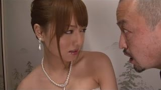 New Hot SexyJapanese Clip : Beautiful bride Akiho Yoshizawa scare Adoptive Father