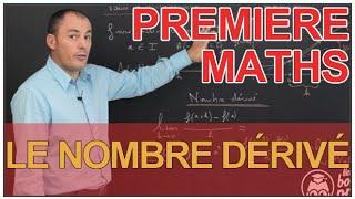 Le nombre dérivé - Dérivation - Maths 1ère - Les Bons Profs