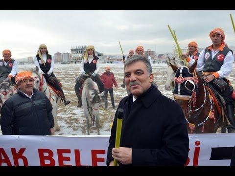 Cumhurbaşkanı Gül Uşak ta Cirit Müsabakası izledi 11.01.2013