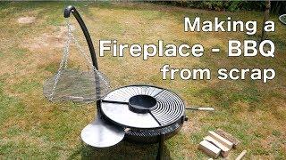 Making a Beautiful Fireplace - BBQ from scrap metal