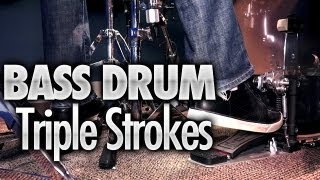 Bass Drum Triple Strokes - Drum Lesson (DRUMEO)