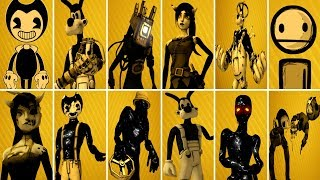 Bendy and the Ink Machine ALL CHARACTERS 1, 2, 3, 4 | BATIM Chapter 4 [EXTRAS]
