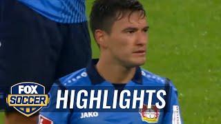 Robert Lewandowski converts penalty after VAR decision   2017-18 Bundesliga Highlights