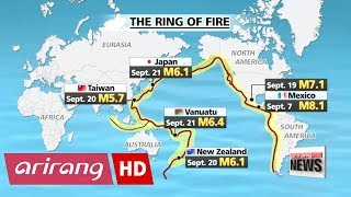 Strong earthquakes hit countries situated along Pacific Ring of Fire