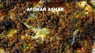 Afghan style Ashak recipe