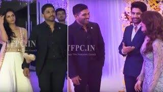 Stylish Star Allu Arjun @ ChaySam Wedding Reception | TFPC