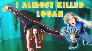 THROWING KNIVES AT LOGAN PAUL... (with my feet)