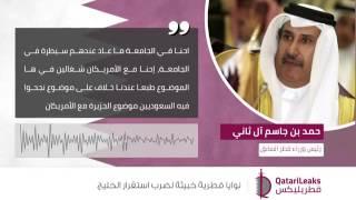 تسريب صوتي جديد لحمد بن جاسم آل ثاني يتحدث فيه عزم قطر ضرب استقرار الخليج والسعودية