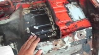 Restauro da carroceria do BJ40 - Processo inicial de restauro