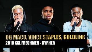 XXL Freshmen 2015 Cypher - Part 2 - GoldLink, OG Maco & Vince Staples