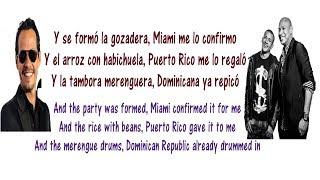 Gente de Zona - La Gozadera Lyrics English and Spanish ft  Marc Anthony - Translation & Meaning
