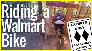 Riding a Walmart Huffy Fat bike down Hawleywood at Thunder Mountain