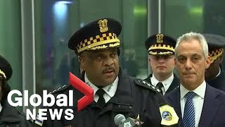 Chicago mayor Rahm Emanuel and police provide update on shooting at Chicago