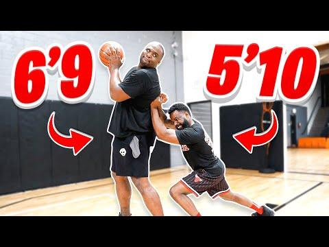 1v1 Basketball Against NBA Champion Big Baby Glen Davis Trash Talk
