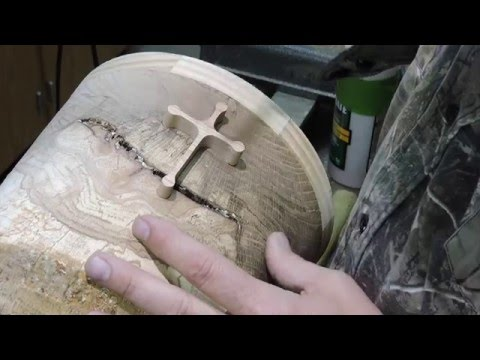 wood inlay to fix a crack in a wood bowl