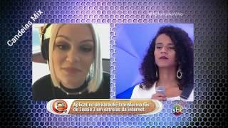 Rebeca Silva  de Candeias no Programa da Eliana
