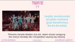 TWICE - TT [MV, EASY LYRIC, LIRIK INDONESIA]