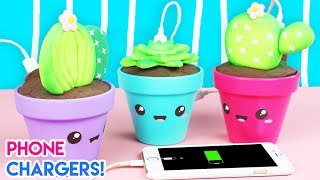How to Make DIY Kawaii Succulent Phone Chargers!