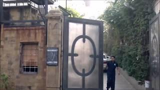 Shah rukh Khan's house Mannat   Gauri Khan & Abram at balcony  Srk's car entering inside house