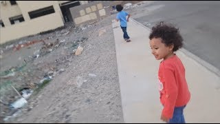 🔥آسر وسامر يطاردوا البسة في وسط الحاره 🔥