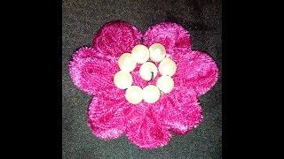 পুরাতন কাপড় দিয়ে broce তৈরী|Diy Beaded brooch Tutorial | Easy Hijabpin making|| Hijabpin