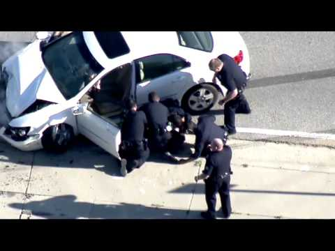 MUST WATCH Epic Los Angeles Police Chase That Ends In Brutal Crash