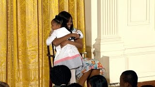 Little Girl Asks First Lady,
