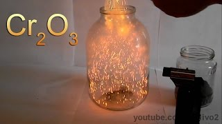 Chemical Volcano and Fire Blizzard with Chromium Oxide!