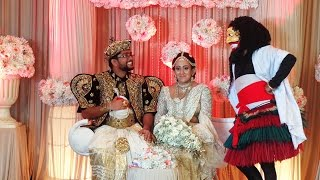 Salu paliya at the wedding reception of Isurika & Tushara - Cinnamon Lakeside -Colombo
