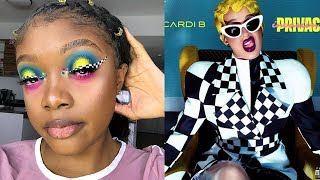 CARDI B INVASION OF PRIVACY INSPIRED EYE LOOK MAKEUP