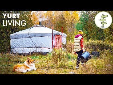Woman Living Fully Off Grid for 2 Years in a Tiny Yurt
