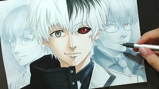 Speed Drawing - Kaneki   Haise (Tokyo Ghoul)
